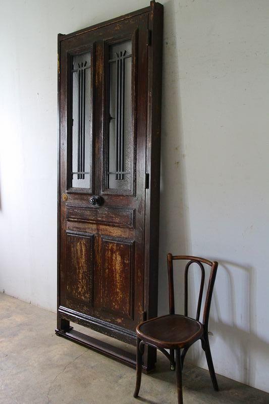 シンプルなアイアン飾り 玄関ドア 木枠完成品あり 外開き フランス