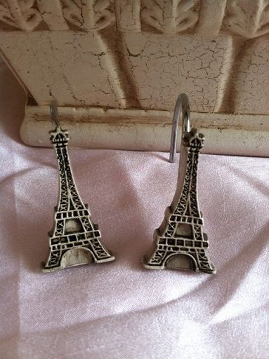 Eiffel Tower Shower Curtain Hooks | BATHROOMS | Pinterest | Shower ...