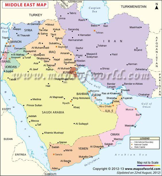 Map showing the boundaries of Saudi Arabia UAE Iraq Iran etc – Abu Dhabi Country Map