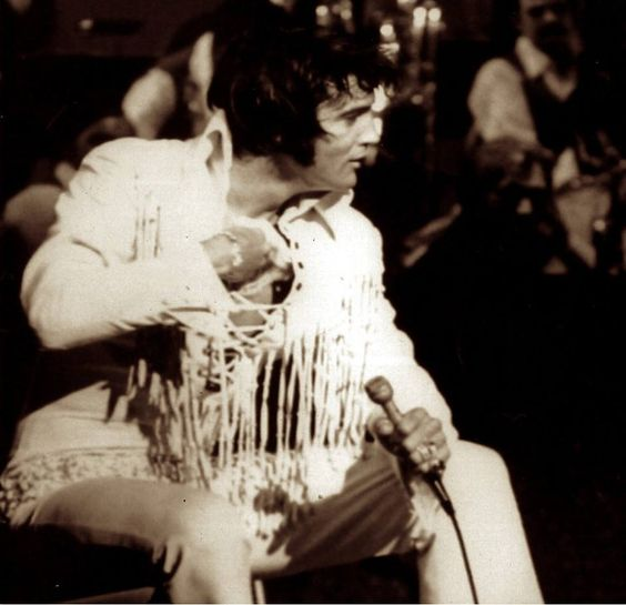 "August 10, 1970, International Hotel, Vegas ""Opening Show"".  THANKS TO THE PINNER...This is priceless!!!"