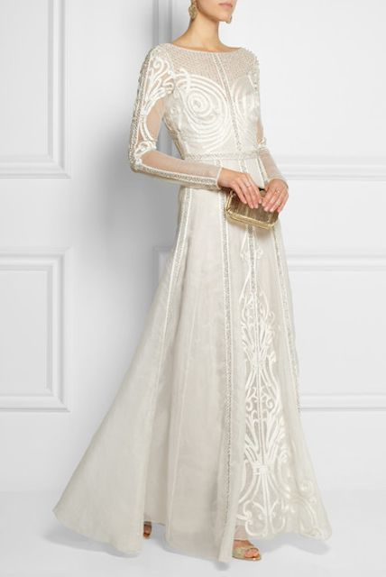 Trending Now #2 – Wearing White i love bonbons jaime yong fashion lifestyle blog singapore southeast asia temperley london crivelli embroidered tulle silk gown white net a porter