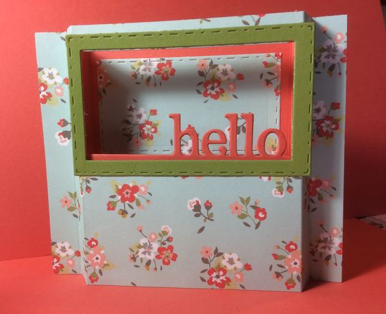 Diorama card made with Spellbinders May die club and Echo Park paper