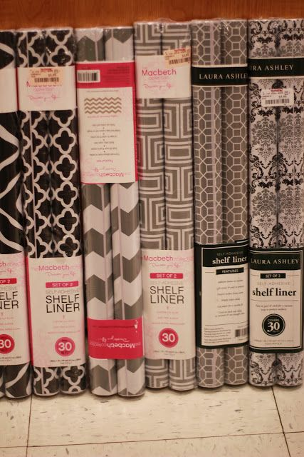 TJ Maxx shelf liner...I could do wonderful things to my pantry with some of these cute prints!