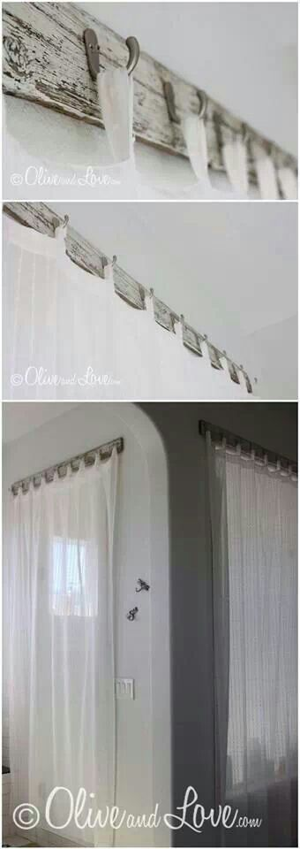 Creative Way To Hang Curtains Home Pinterest