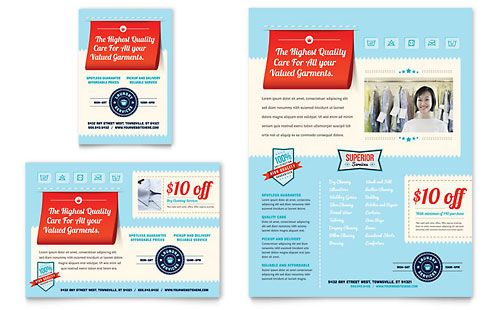 Laundry Services  Flyer  Ad Template Design  Inspo