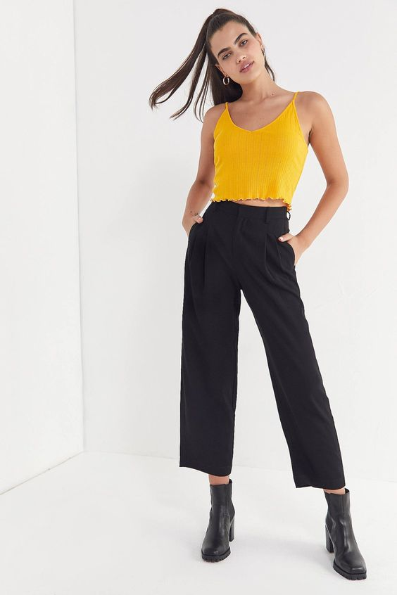 UO Arlo Pleated Pant | Urban Outfitters