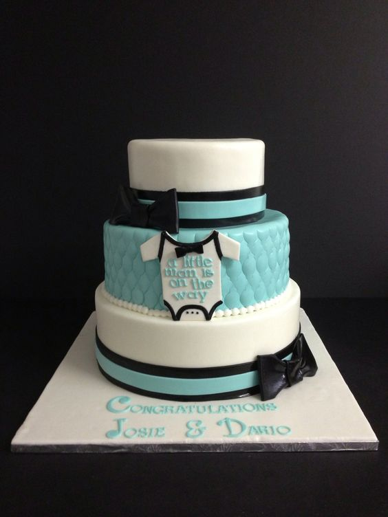 Baby boy shower cake  Bow tie:
