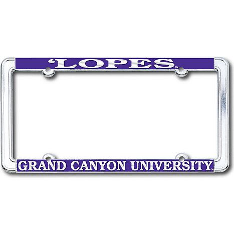 product grand canyon university antelopes chrome license plate frame