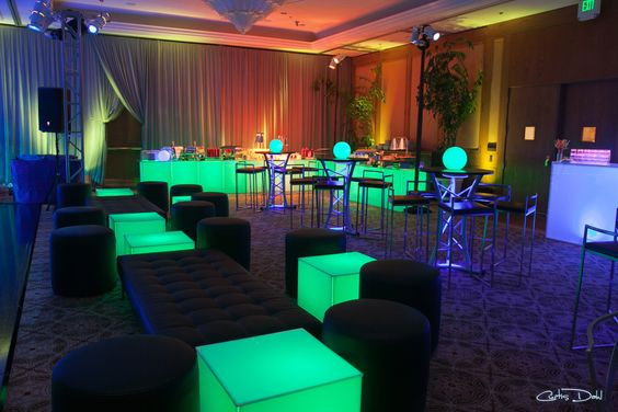 Bar Mitzvah, glow in the dark, green and blue