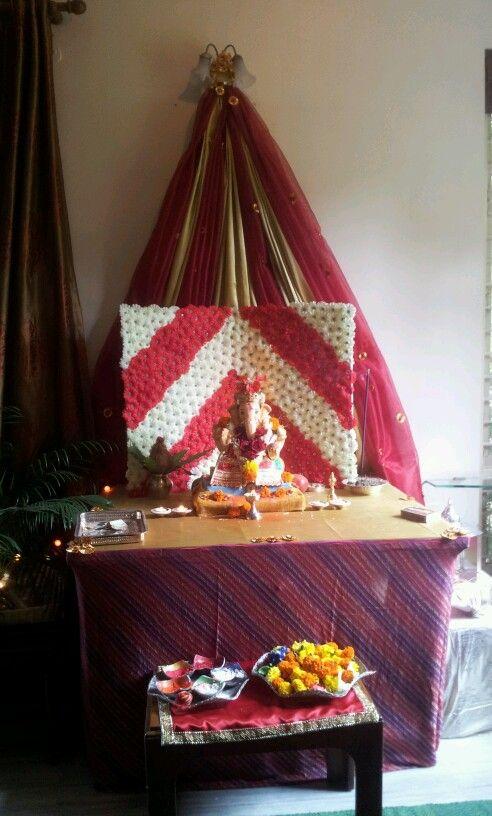 Ganpati decoration  Inspiring Ideas  Pinterest  Decoration