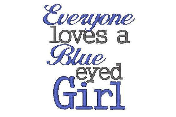 blue eyed girl!