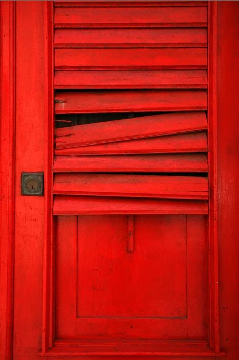 Red Shutter photography by Timothy Johnson  dazzlingagony: Red Shutter photography by... - colors of life