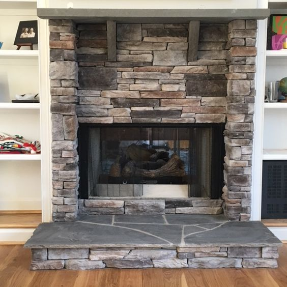 Stone mantel mantels and stones on pinterest for Kitchen renovations centurion
