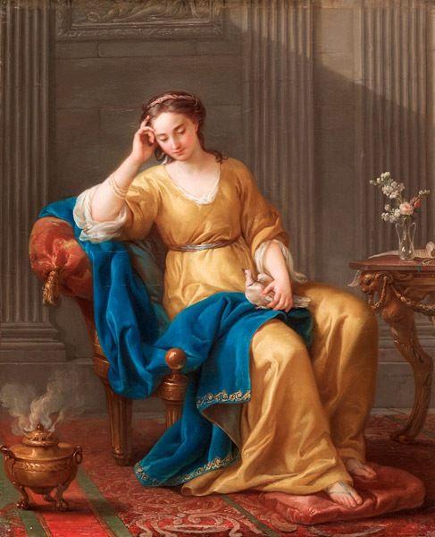 Joseph-Marie Vien (french painter) - La Douce Mélancolie, 1756