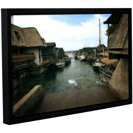 ArtWall Kevin Calkins Fishtown Gallery-Wrapped Floater-Framed Canvas, Size: 24 x 36, Brown
