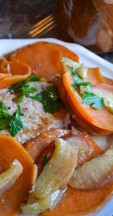... pork pork chicken and more pork chops pork potatoes apples sweet