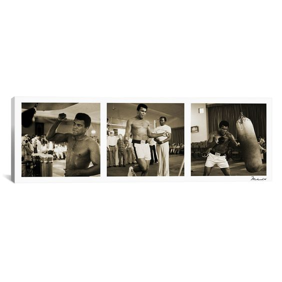 iCanvas Training in Action at the Gym Canvas Print Wall Art
