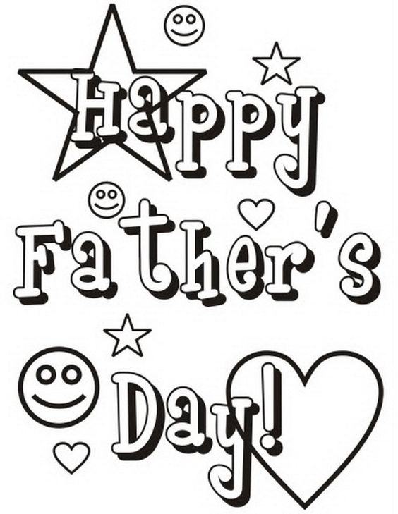 Happy Fathers Day Coloring Pages Printable http://procoloring.com ...