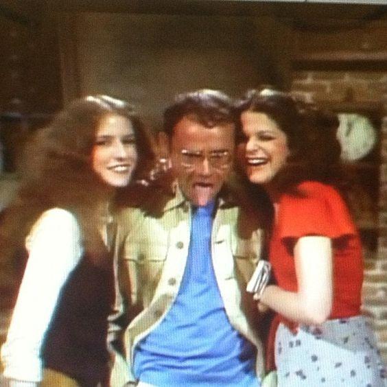 Gilda Radner, Lorraine Newman w/Buck Henry