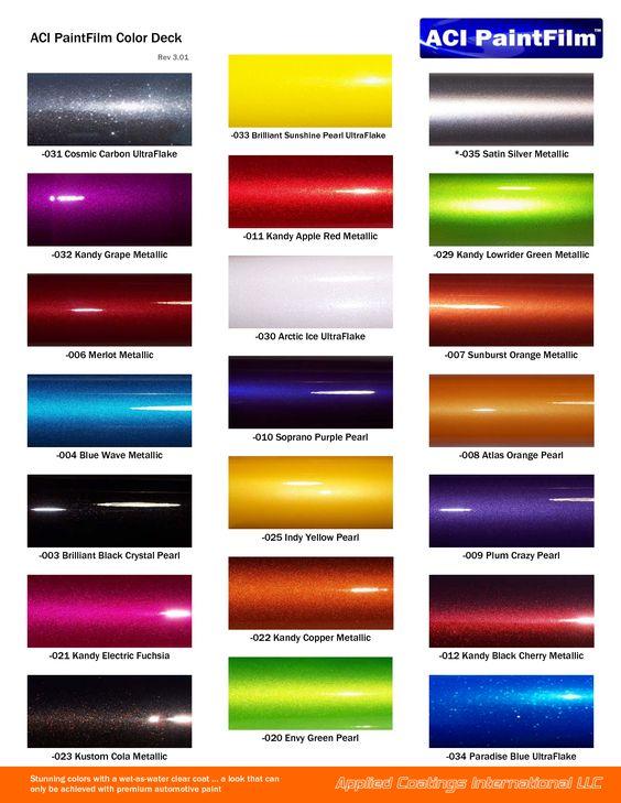 gm auto color chips   Color Chip Selection   Auto paint colors ...