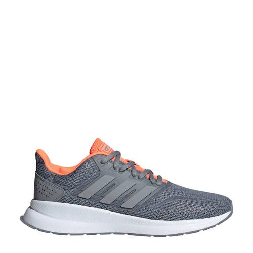 adidas Performance Runfalcon hardloopschoenen grijs/koraal ...