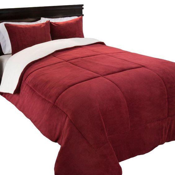 Sherpa/Fleece Comforter Set by Lavish Home