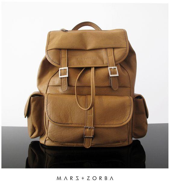 Mars+Zorba Buffalo Backpack #mochila #leather #design #handbags #backpack #lux #fashion #buenosaires