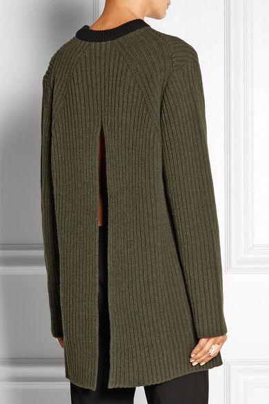 Marni | Split-back ribbed wool sweater | NET-A-PORTER.COM