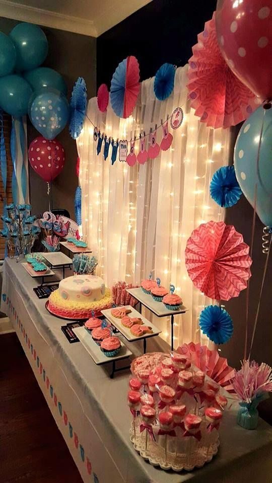 Revealing The Gender Of Your Unborn Child Or Children Will Be A Special Event Wi Gender Reveal Party Decorations Gender Reveal Party Food Gender Reveal Party