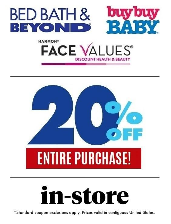 Bed Bath Beyond 20 Off Entire Purchase Email Delivery Bed