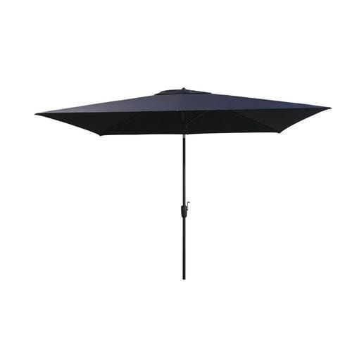 Shop Simply Shade Navy Market 6 5 Ft Auto Tilt Rectangular Patio Umbrella With Black Aluminum Frameundefined At In 2020 Rectangular Patio Umbrella Patio Umbrella Patio