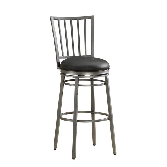 "American Heritage Easton 26"" Swivel Bar Stool with Cushion"