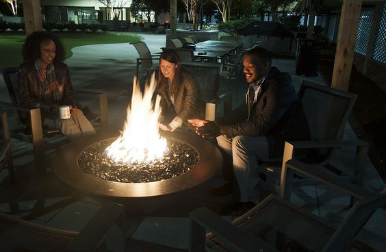Fire Pit at the courtyard at The Point at Silver Spring #firepit #fire #fall #apartmentcomplex #apartmentbuildings #apartmentamenities #amenities