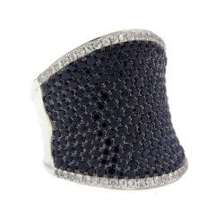 Windsor Jewelers - Charles Krypell Black and White Sapphire Scoop Ring (http://www.windsor-jewelers.com/charles-krypell-black-and-white-sapphire-scoop-ring/)