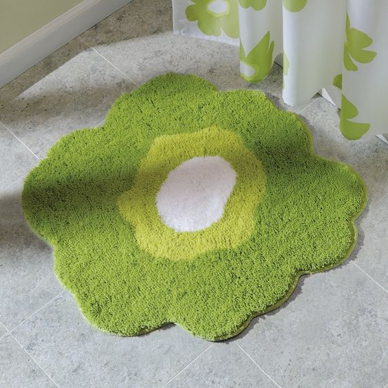 Amazoncom InterDesign Design Poppy Rug Yellow 26 Inch Second Fl Bath Pinterest