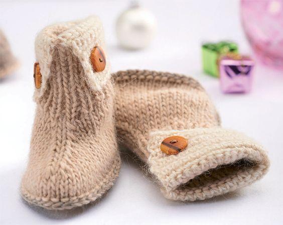 baby uggs knitting pattern free