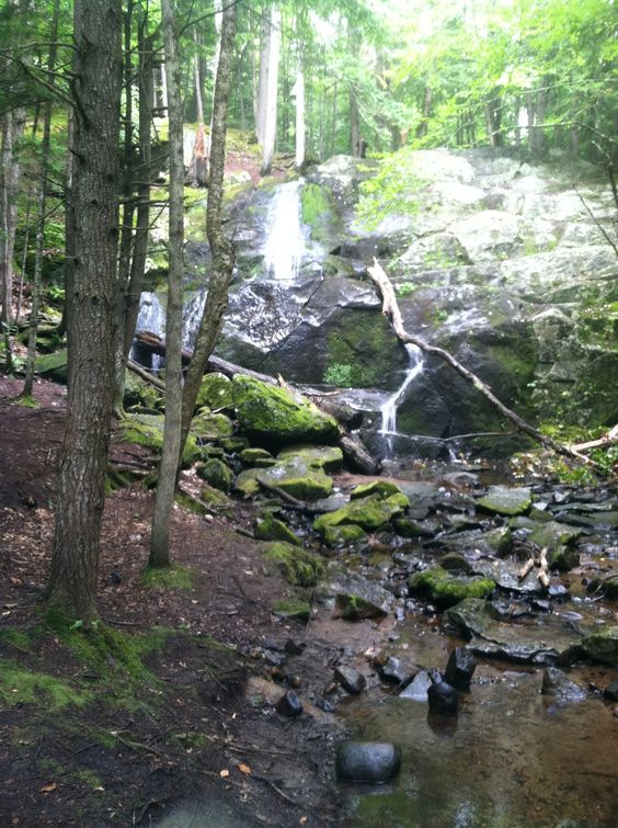 Found a waterfall on our hike through New Hampshire