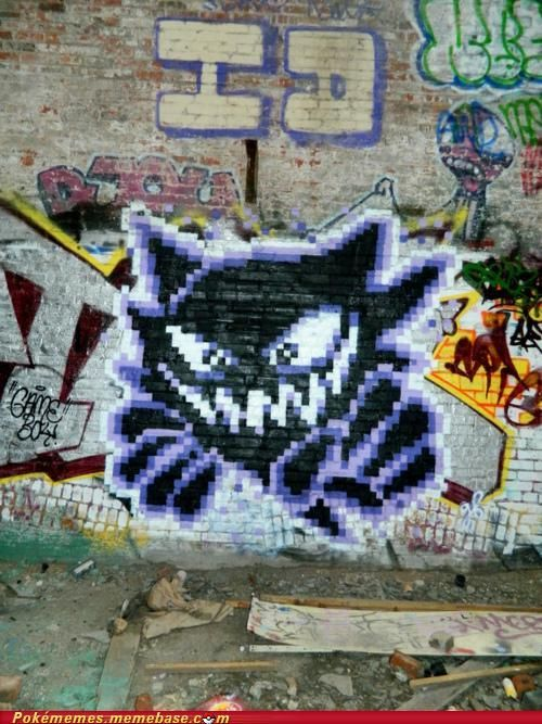 Pokemon graffiti. I don't endorse graffiti, but this is pretty cool.