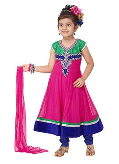 Little-Girls-Baby-Girls-Party-Wedding-Dress-Suit-Pakistani-Indian-2016-2017-Pink.jpg (400×551)