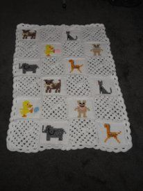 Free Crochet Cross Stitch Afghan Patterns : babgle animals patterns Crochet Butterfly Afghan Crochet ...