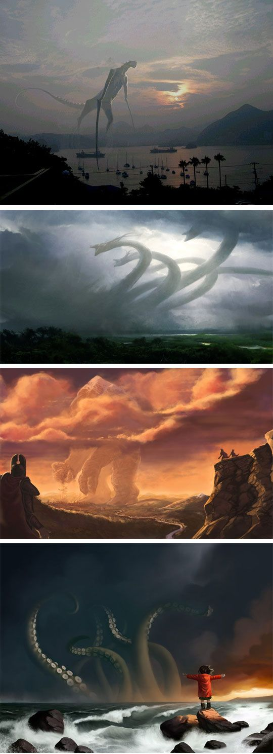 When The Old Gods Return. Fantastic works, the ending of Cabin in the Woods came to mind!