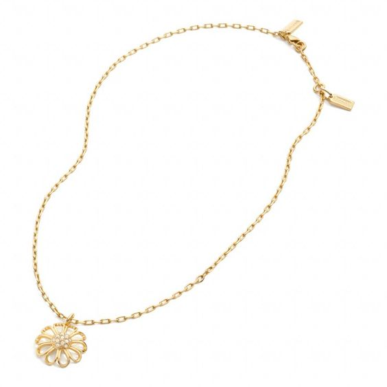 Coach :: New Pave Flower Necklace