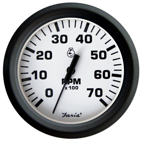 Dress White Faria 33104 Tachometer-7000 RPM