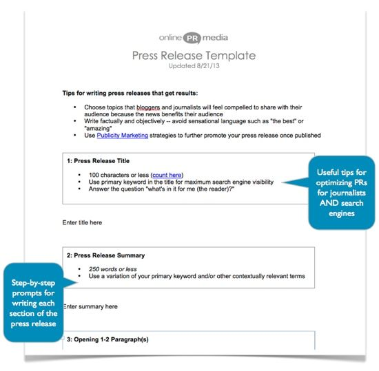 How to Write a Press Release Free Template Work - Copywriting - press release template