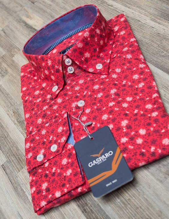 Red flower shirt - new in - www.italian-style.nl #trendy #shirt #italian #style #top #fashion #herenmode #italiaans #italianstyle #shirts #italia #heren #modern #mannenmode #overhemd #kledingwinkel #love #summer #overhemden #kleding