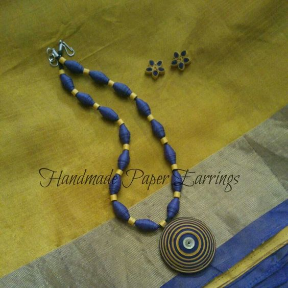 Quilled Paper Beads with a Pendant