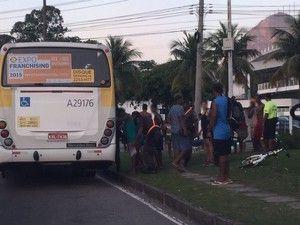 Menores infratores foram revistados pela PM na Lagoa (Foto: Ricardo Abreu / Arquivo pessoal)