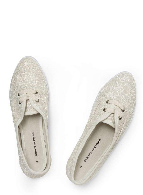 Photo 5 sur Chaussures à lacets en dentelle blanche