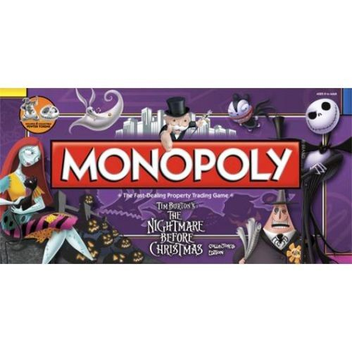 Monopoly Nightmare Before Christmas Edition Ages 8 and up, 1 ea