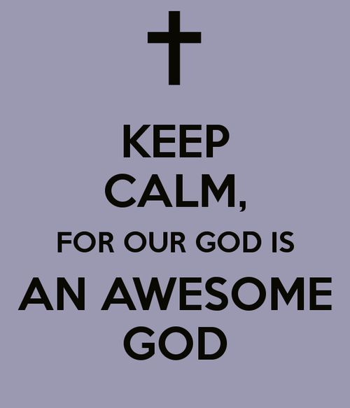 our God is an awesome God He reigns from Heaven above with wisdom, power & life, our God is an awesome God...